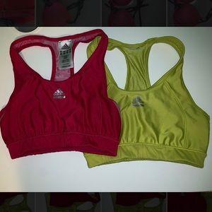Adidas sports bras.